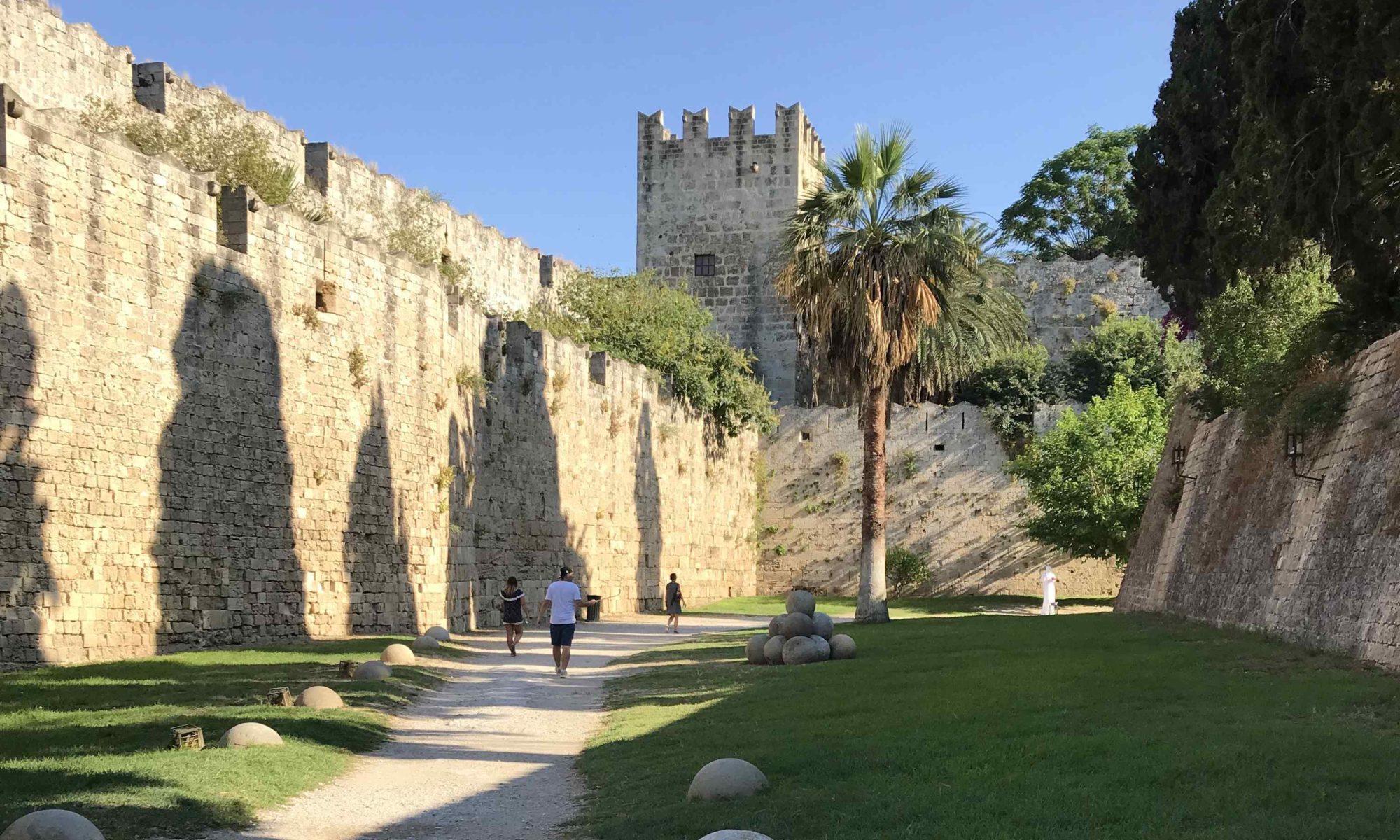 Remparts citadelle Rhodes