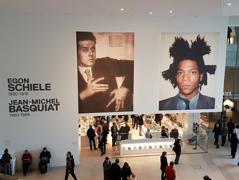 Expo JL Basquiat et E Schiele
