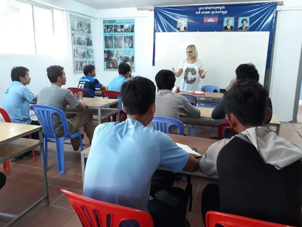 Conférence devant élèves et formateurs