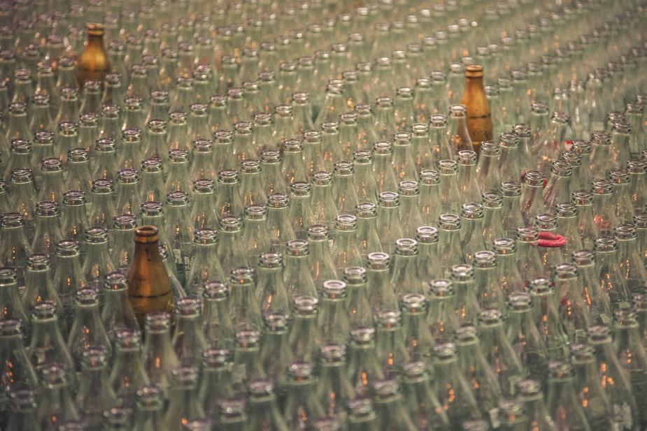 Bouteilles en verre recyclables