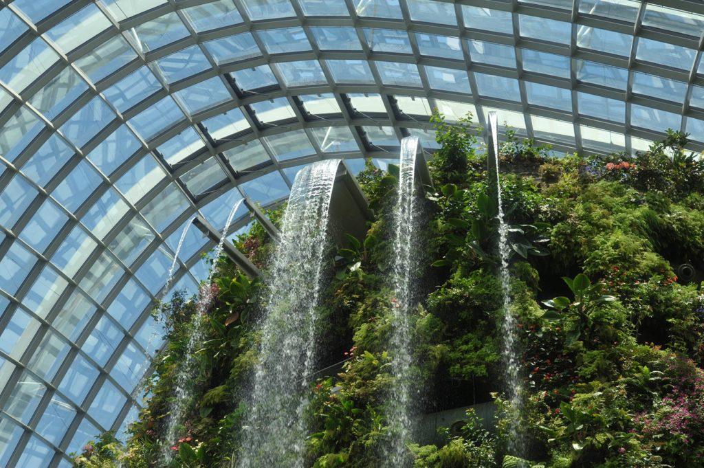Singapour - Jardin bonatique - Cascades