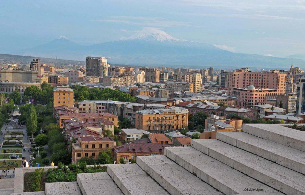En haut de la cascade - Erevan - Arménie