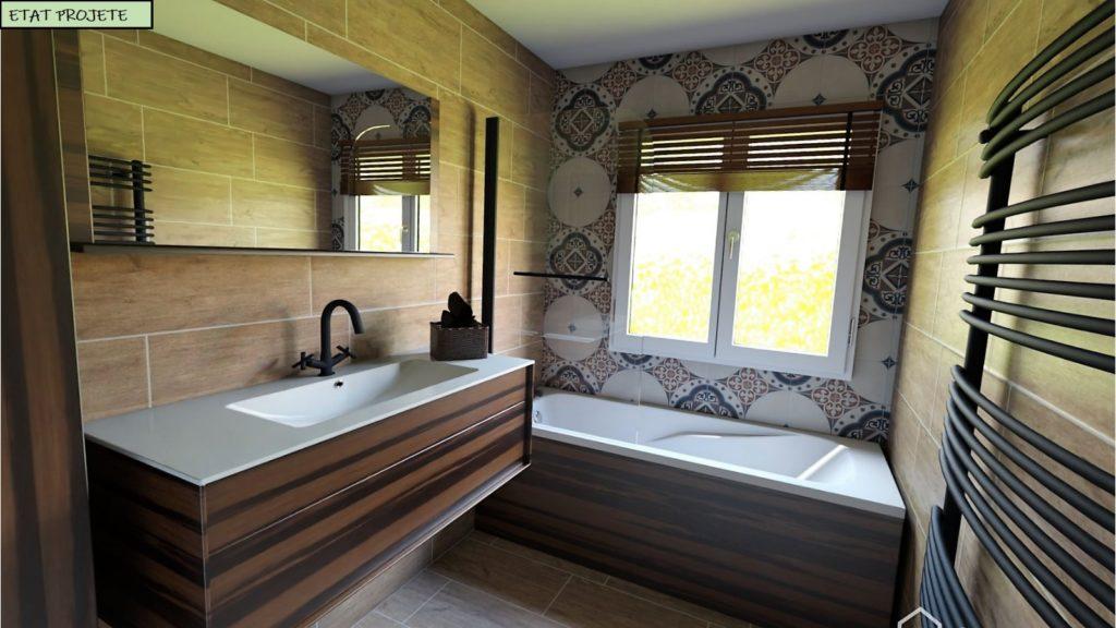 Salle de bain redécorée
