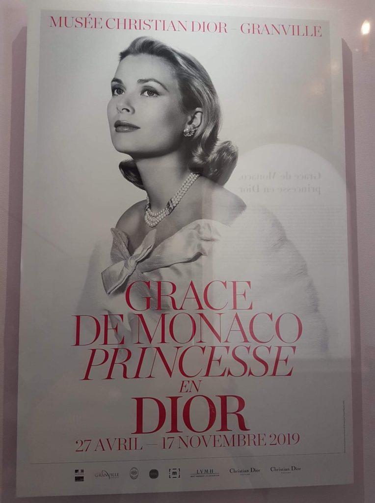 Affiche expo Grace de Monaco - Musée Dior à Granville
