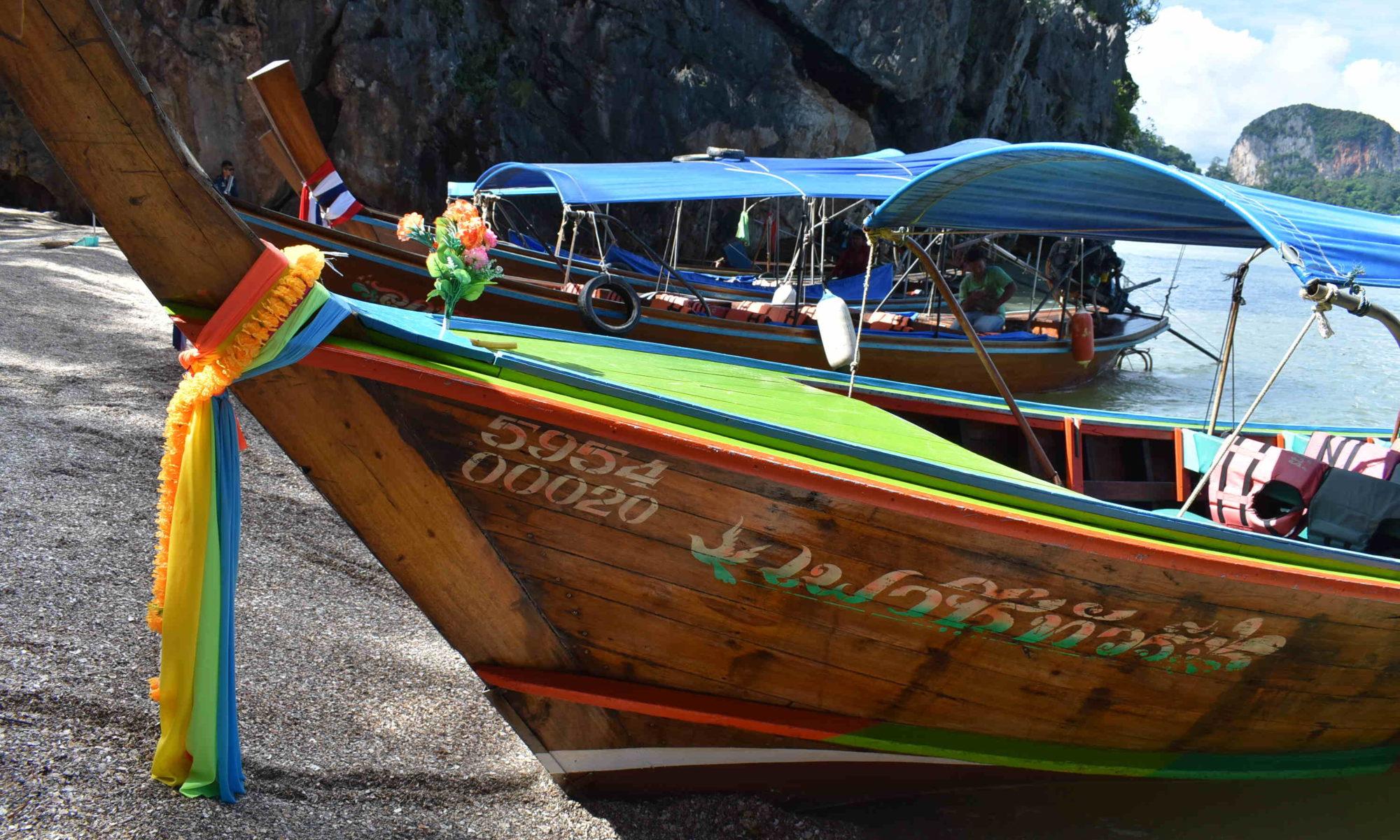 Bateaux traditionnels thaïlandais