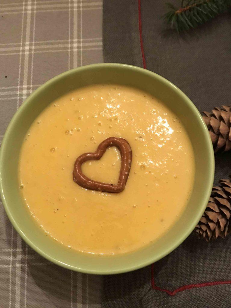 Soupe patates douces au curcuma