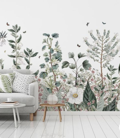 Déco mural fleuri